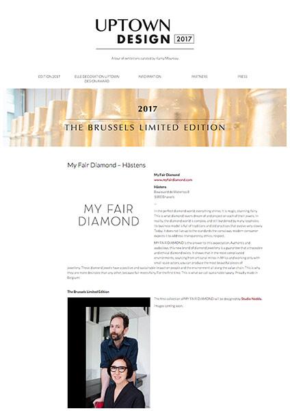 Uptown Design webpage